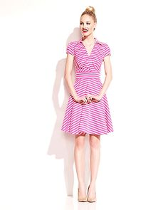 PRETTY IN PINK STRIPED DRESS PINK ready to wear dresses no classes fashion