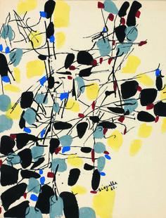 Jean-Paul Riopelle 1955.Follow the biggest painting board on Pinterest www.pinterest.com/atelierbeauvoir