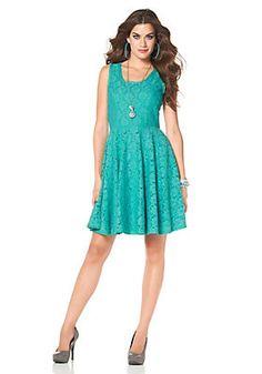 Laura Scott Spitzenkleid »Mit weitem Tellerrock« im QUELLE Online Shop Laura Scott, Elegant, Summer Dresses, Vintage, Style, Fashion, Dress Skirt, Lace, Figurine