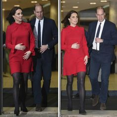 6 December 2017 - William and Kate attend the Children's Global Media Summit in Manchester - coat by LK Bennett, dress by Goat, shoes by Tod's