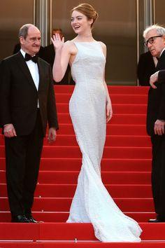 Emma Stone in Christian Dior and Repossi.