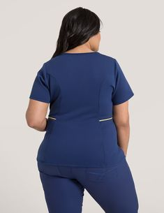 Modern Scrubs and Lab Coats for Men and Women by Jaanuu Healthcare Uniforms, Medical Uniforms, Stylish Scrubs, Scrubs Outfit, Lab Coats, Medical Scrubs, Plus Size Outfits, Peplum Dress, Audi