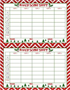 Bunco themes for different months of the year | Bunco | Pinterest ...