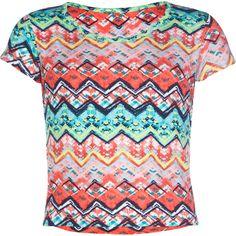 FULL TILT Floral Print Girls Fitted Crop Top 238613398 | Knit Tops & Tees | Tillys.com