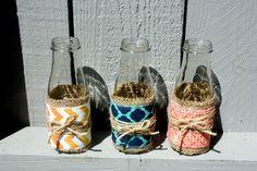 Upcycled Glass Vases, Candleholders, Tealight Holder, Pencil Holder, Home Decor, Set of 3 on Etsy, $15.00