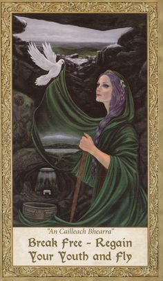"Art Through the Eyes of the Soul Oracle by Cheryl Y. Rose. Card:  ""An Cailleach Bhearra"""