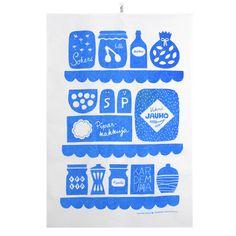 Keitti�ss� keitti�pyyhe, sininen