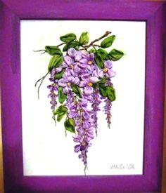 Ricamo con nastro di seta. Tutti nastri dipinti a mano. www.mika-ok.gallery.ru
