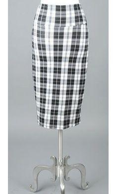 High waist Gingham Pencil Skirt - Apostolic Clothing #modestclothing #modestskirts #pencilskirts
