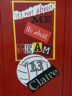 Beginning-of-the-year locker decorations! but a football instead of a volley-ball! Volleyball Locker Signs, Football Locker Signs, Soccer Locker, Football Cheer, Volleyball Mom, Volleyball Quotes, Volleyball Posters, Softball Gear, Football Spirit