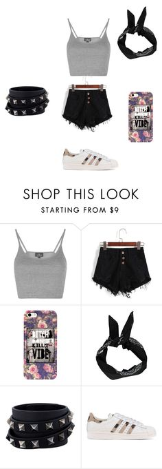 """""""what i would wear #1"""" by elinakitty67 on Polyvore featuring Topshop, Valentino and adidas Originals"""