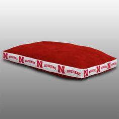 Nebraska Cornhuskers NCAA Team Color MVP Dog Bed 26X37 #SportsCoverage #NebraskaCornhuskers