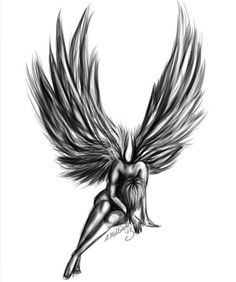 Angel Tattoos of fallen angels - Art - zeichnung - Tattoo Designs For Women Body Art Tattoos, Tattoo Drawings, Girl Tattoos, Sleeve Tattoos, Fly Tattoos, Fishing Tattoos, Heart Tattoos, Tattoos Skull, Music Tattoos