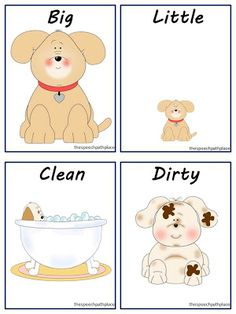 Freebie!!!!! A really cute way to work on opposites...using puppies