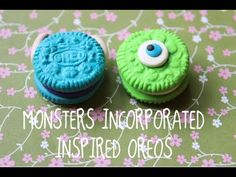 Monsters Inc. Inspired Oreo TUTORIAL!