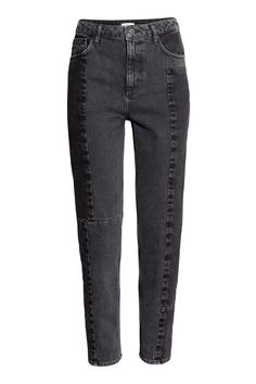 H&M Straight High Patchwork Jeans