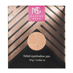 Makeup Geek Foiled Eyeshadow Pan is a creamy eyeshadow with a foiled metallic finish.  Coating the eyes in sumptuous metallic colour, Foiled