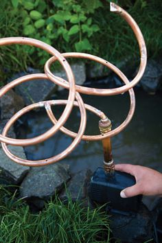 Copper spiral water feature DIY