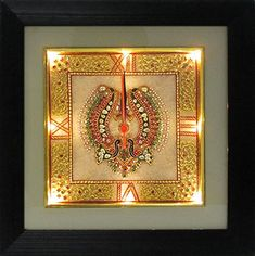 Buy ecraftindiagolden color designed marble wall clock with led and wooden frame online Home Decor Items Online, Wall Decor Online, Wall Clock Online, Wall Decor Design, Frame Wall Decor, House Front Wall Design, India Home Decor, Marble Painting, Rock Painting