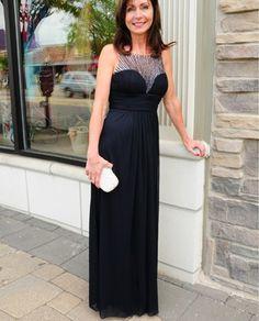 Cachet 55244 Illusion Top Long Dress $198
