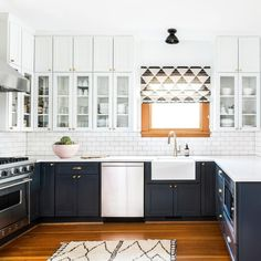 Take the pane out of decorating with our designer tips and tricks for dressing those hard-to-style windows. #twotonekitchencabinet #kitchencabinetideas #kitchencabinet 37 Two-Tone Kitchen Cabinets To Reinspire Your Favorite Spot Tags: two tonekitchen cabinet, two tone kitchen cabinets, two tonekitchen cabinet color, two tone kitchen cabinet designs,