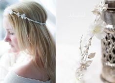 Haarkranz+Blumen+Braut+weiß+von+Julmond+auf+DaWanda.com