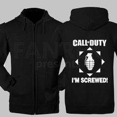 Call of Duty I am Screwed Logo Zip Up Hoodies