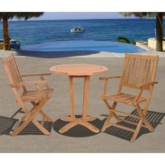 Amazonia Houston 3 Piece Dining Set by International Home Miami. $640.99. SC VICTOR_2YOGYAARM Features: -Material: 100pct high quality eucalyptus wood.-Free feron gard wood preservative for longest strap durability.-Works great against the effects of air pollution salt air, and mildew growth.-For best protection, perform this maintenance every season or as often as desired.-Great functionality. Includes: -Includes 1 Round table and 2 Armchairs. Assembly Instructions: ...