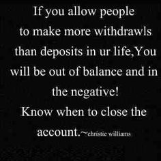 What's your balance