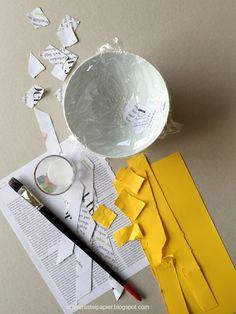 Machst du auch gerne Papier-mâché oder findest du es zu pampig? Ich habe letztes Jahr die Variante mit trockenen Papierstücken und mit ... Animation, Bunt, Paper Crafts, Kids, Kindergartens, Atelier, Jewelry Making, Diy Presents, Hand Made Gifts