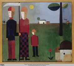 Franz Wilhelm Seiwert, Ländliche Familie (Familie Jatho) 1923