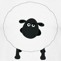 """Shirely the sheep"" Tee, White, Men"