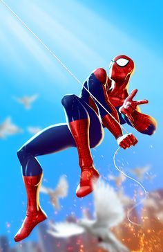 Comic Art on Behance Spiderman Pictures, Spiderman Art, Amazing Spiderman, Marvel Comics Art, Marvel Heroes, Ms Marvel, Captain Marvel, Avengers Art, Marvel Wallpaper