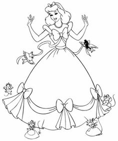 Free Printable Cinderella Coloring Pages For Kids Design