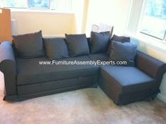 ikea moheda sofa bed assembled in Arlington VA by Furniture assembly experts company - call (202) 787-1978