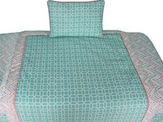 cool BabyFad Lattice Chevron Turquoise 9 Piece Baby Crib Bedding Set 0 0 This crib bedding set features a neutral gender theme combining turquoise, coral and grey coordinating fabrics; The color combination used in this set makes it perfect any baby nursery Included in this 9 piece set are; quilt, fitted sheet, bed skirt, 2 window valances, toy bag, diaper stacker, decorative pillow and a...