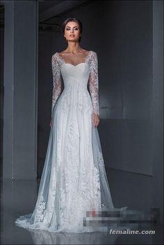 222 beautiful long sleeve wedding dresses (45)