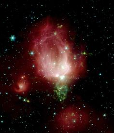 Spitzer Telescope Sends Rose for Valentine's Day
