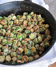 Fried Okra Recipe- So southern and so good, been enjoying this vegetable all my life! from addapinch.com