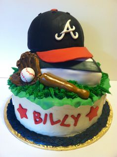 braves cakes | ... Bride Alissa / Braves Cake - minus the name to make it a groom's cake