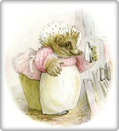 The Tale of Mrs. Tiggy-Winkle by Beatrix Potter. One of my favourite books when I was young.