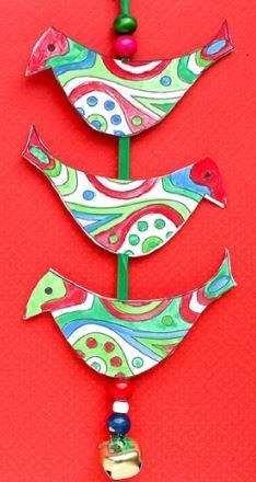 Bell Tota Kids Holiday Craft   Try this animal craft for the Christmas holiday with your kids!