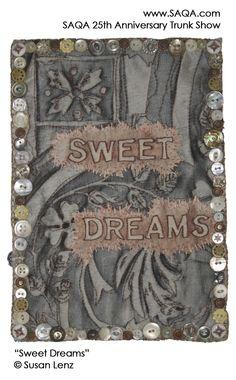 Art quilt by Susan Lenz #artquilts #SAQA