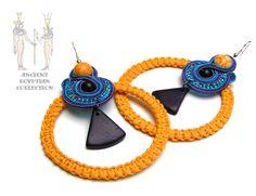 Sutasz-Anka:Amon Re - earrings http://www.soutage.com/2012/10/amon-re-kolczyki.html