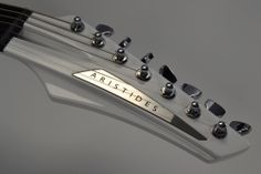 NICE!! Aristides 070 headstock white/chrome