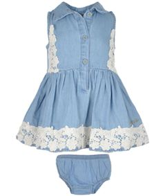 "Guess Baby Girls' ""Cozy Blossom"" Dress with Diaper Cover $19.99"