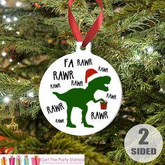 Dinosaur Christmas Ornament  Boys Christmas by getthepartystarted