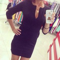 Sexy deep V long-sleeved dress