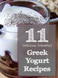 11 Delicious {Healthy} Greek Yogurt Recipes