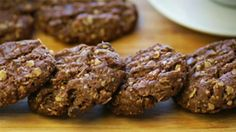 (Makes 24) What You'll Need:  1 cup Rolled oats 1 cup Plain flour 1 cup Desiccated coconut 1 cup Dark chocolate bits ¼ cup Brown sugar, lightly pack